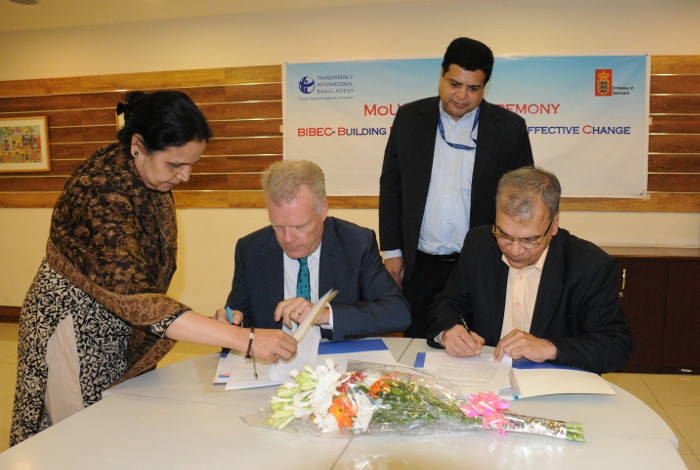Ambassador H.E. Mikael Hemniti Winther of the Kingdom of Denmark signed a Memorandum of Understanding (MoU) with Transparency International Bangladesh (TIB)